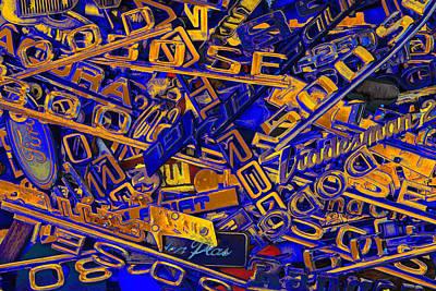 Black Top Digital Art - Pile Of Badges 6 by Scott Campbell
