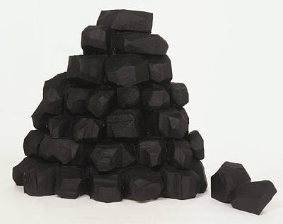 Pile Of Coal Lumps Art Print by Dorling Kindersley/uig