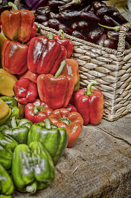 Photograph - Pile Of Peppers by Heather Applegate