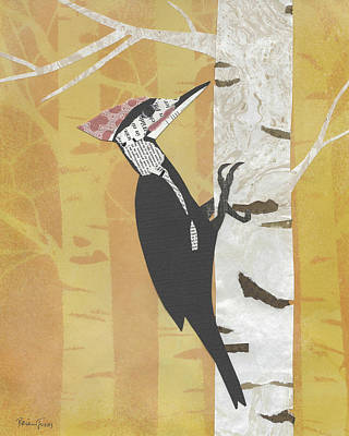 Mixed Media - Pileated Woodpecker by Brian Fuchs