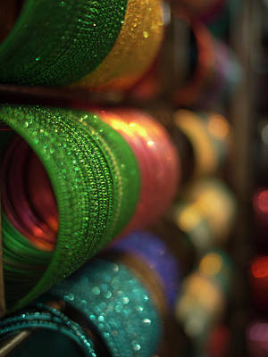 Bangle Photograph - Piles Of Bangles Are Stacked by David H. Wells