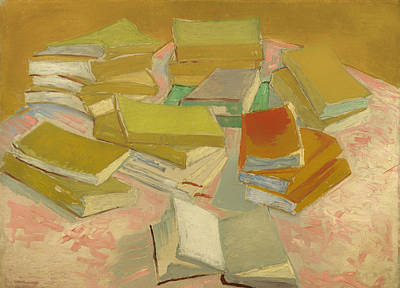 Novel Painting - Piles Of French Novels by Mountain Dreams