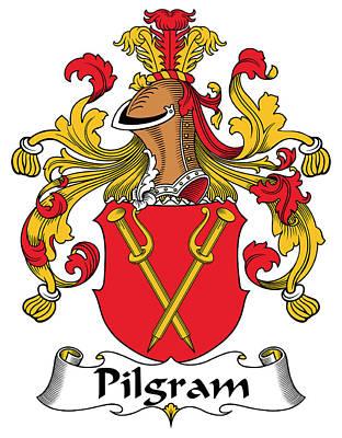 Pilgram Coat Of Arms German Art Print by Heraldry