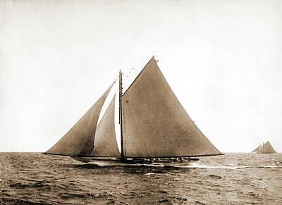 Pilgrims Drawing - Pilgrim, Pilgrim Yacht, Americas Cup Races by Litz Collection