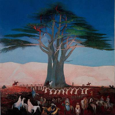 Pilgrimage Painting - Pilgrimage To The Cedars Of Lebanon by Tivadar Kosztka Csontvary