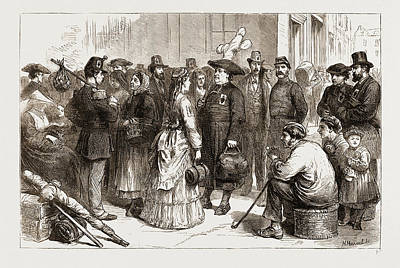 Sacred Art Drawing - Pilgrimages In France-departure From A Provincial Station by Litz Collection