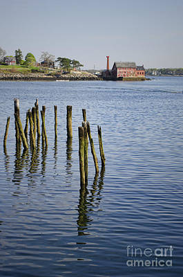 Pilings And Paint Factory Gloucester Ma Art Print by Dave Gordon