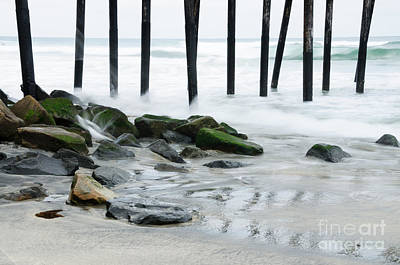 Pilings At Oceanside Art Print