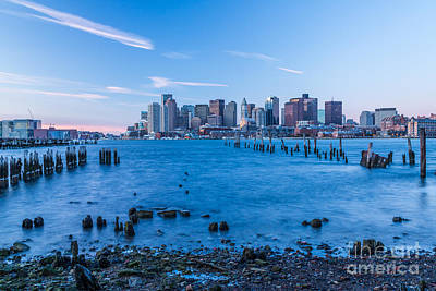 Photograph - Pilings On Boston Harbor by Susan Cole Kelly