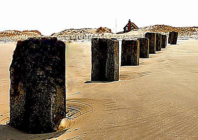 Photograph - Pilings On Plymouth Beach by Janice Drew