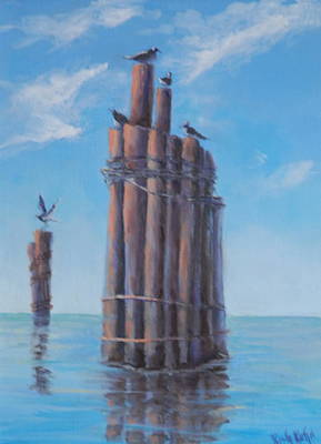 Painting - Pilings   by Rich Kuhn