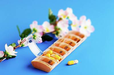 Pill Box Photograph - Pill Dispenser by Wladimir Bulgar