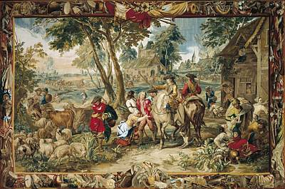 Tapestries Textiles Photograph - Pillage. 17th C. Germany. Munich. New by Everett