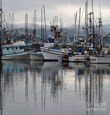 Photograph - Pillar Point Harbor Reflections by Dean Ferreira