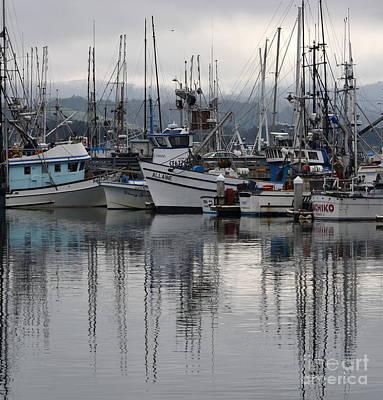 Photograph - Pillar Point Harbor Reflections by Dean Ferreira