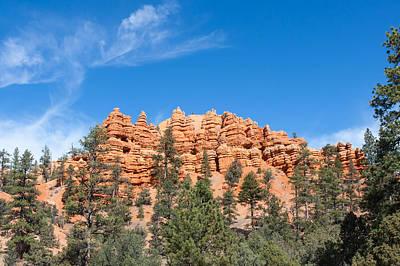 Photograph - Pillars And Ridges At Red Canyon by John M Bailey