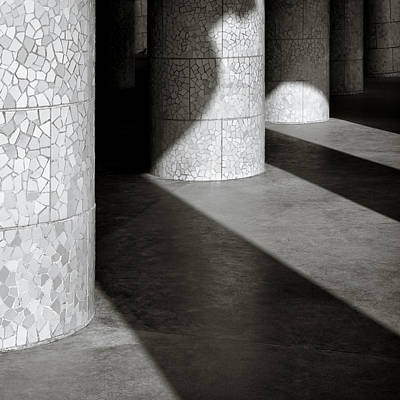 Antoni Gaudi Wall Art - Photograph - Pillars And Shadow by Dave Bowman