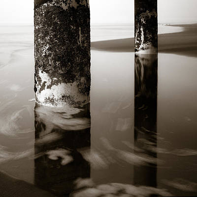 Water Reflections Photograph - Pillars And Swirls by Dave Bowman