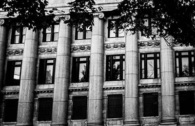 Pillars And Windows Art Print by Shelby  Young