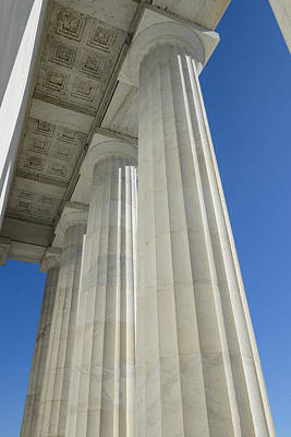 Pillars At Lincoln Memorial Art Print by Brandon Bourdages