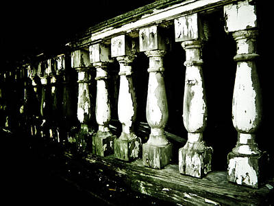 Abandoned House Photograph - Pillars by Jessica Brawley