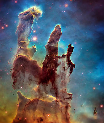 Hubble Telescope Photograph - Pillars Of Creation In High Definition Cropped by Jennifer Rondinelli Reilly - Fine Art Photography