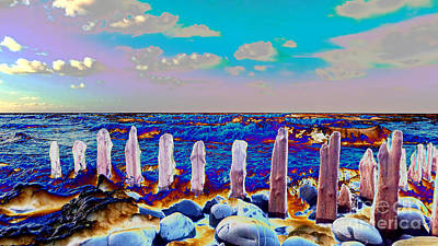 All You Need Is Love - Pillars on the beach #2 by Pete Moyes
