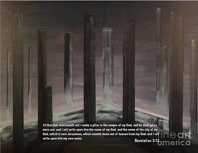 Pillars Art Print by Wayne Cantrell