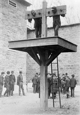 Whipping Wall Art - Photograph - Pillory And Whipping Post, 1880s by Science Photo Library