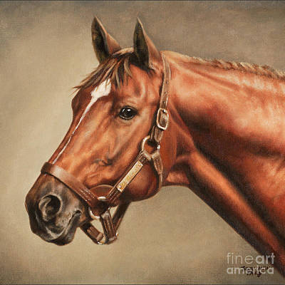 Secretariat Painting - Pillow - Secretariat At Claiborne by Thomas Allen Pauly