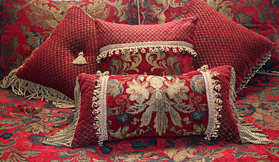 Photograph - Pillows In Red by Amelia Painter