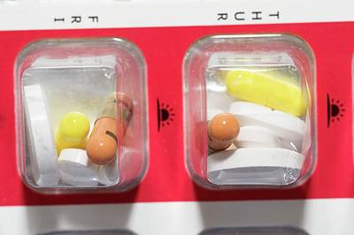 Pill Photograph - Pills In Daily Container by Dr P. Marazzi
