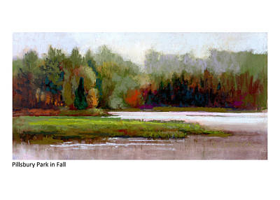 Painting - Pillsbury Park In Fall by Betsy Derrick