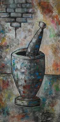Puerto Rico Painting - Pilon by Maurice Dilan