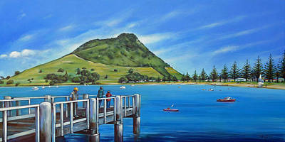 Painting - Pilot Bay Mt Maunganui 201214 by Selena Boron