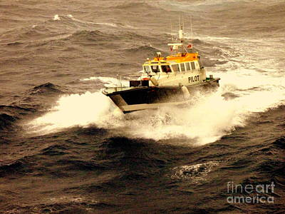 Photograph - Pilot Boat Choppy Sea by John Potts