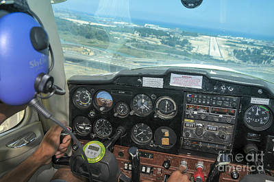 Cessna Photograph - Pilot In Cessna Cockpit by Shay Levy