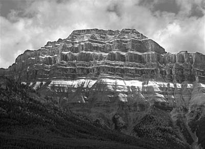 Photograph - 1m3353-bw-pilot Mountain  by Ed  Cooper Photography