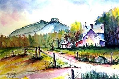 Pilot Mountain Nc Farm Road Sold Art Print