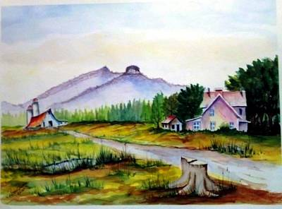 Pilot Mountain Nc Farm Scene Art Print