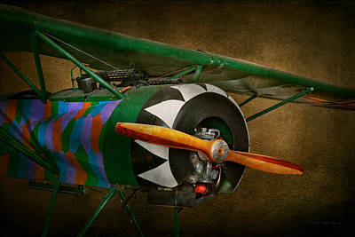 Photograph - Pilot - Plane - German Ww1 Fighter - Fokker D Viii by Mike Savad