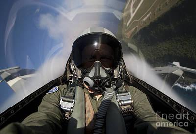 Self Portrait Photograph - Pilot Takes A Self Portrait While by HIGH-G Productions