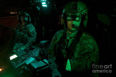 Pilots Equipped With Night Vision Print by Terry Moore