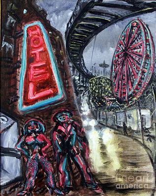 Pimp And Prostitute In Coney Island Original by Arthur Robins