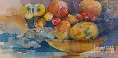 Painting - Pimp Bowl Of Fruit by Donna Acheson-Juillet