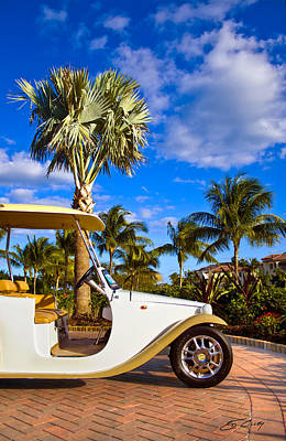 Pimp My Golf Cart Art Print by Ed Cilley