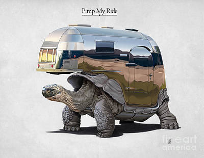Galapagos Drawing - Pimp My Ride by Rob Snow