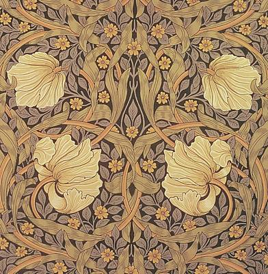 Pimpernel Wallpaper Design Art Print by William Morris