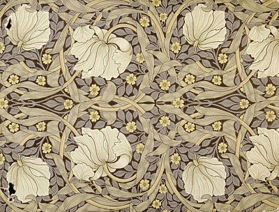 Pimpernell, Design For Wallpaper, 1876 Art Print by William Morris