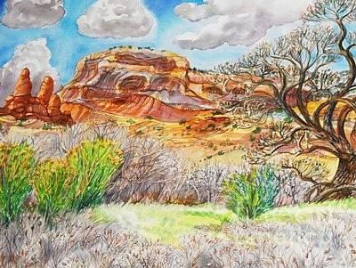 Digital Art - Plin Air Water Color Orignal by Annie Gibbons